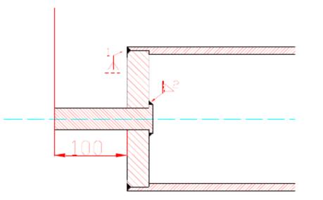滚筒端盖和滚筒壳焊接连接图