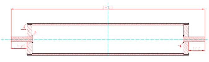 滚筒的结构和外观尺寸图